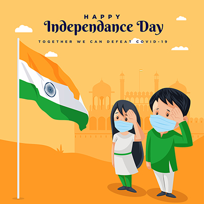 Creative banner template for happy independence day