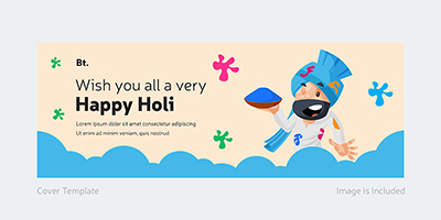 Facebook cover template of happy holi
