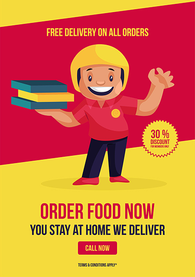 Free delivery on all orders flyer template