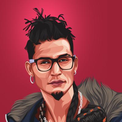 Gopi Longia Musical Artist & Singer Vector Portrait Illustration