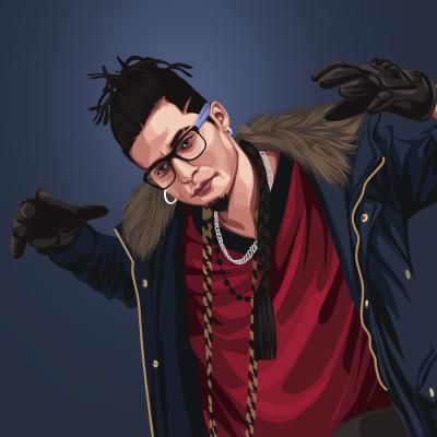 Gopi Longia Musical Artist, Singer & Rapper Vector Illustration