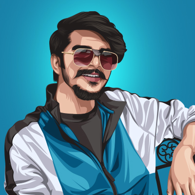Gulzaar Chhaniwala Indian Musical Artist Vector Illustration