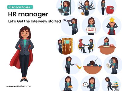 HR Manager- Let's Get the Interview Started Vector Bundle