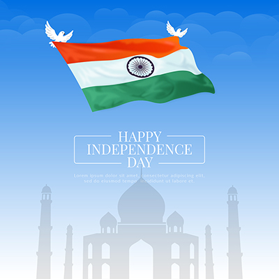 Happy independence day creative banner template