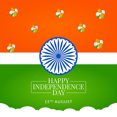 Happy independence day of India banner design template
