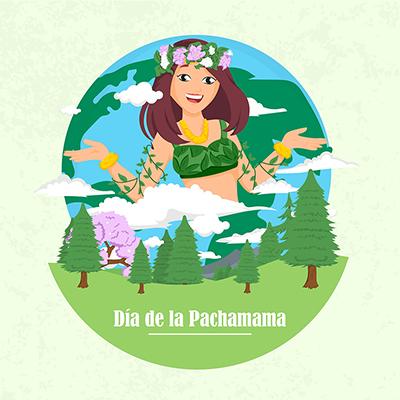 Illustration of dia de la pachamama banner design template