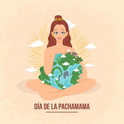 Illustration of dia de la pachamama template banner