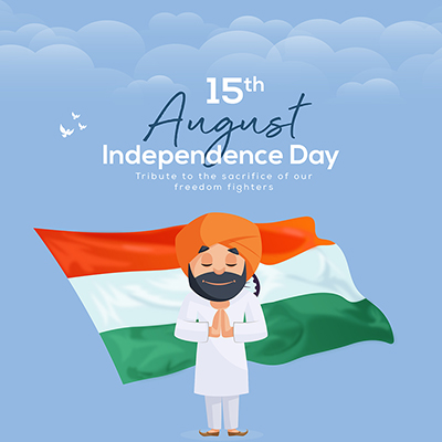 Independence day creative banner template