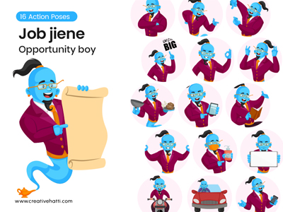 Job Genie- Opportunity Boy Vector Bundle