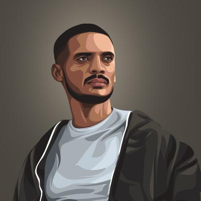 Kaka Indian Musical Artist Vector Portrait Illustration