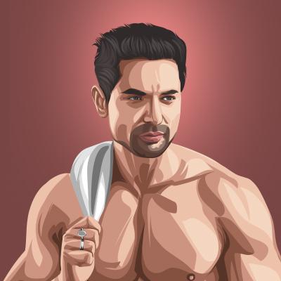 Kartar Cheema Actor And Model Vector Portrait Illustration