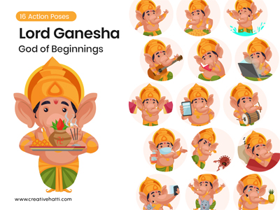 Lord Ganesha- God Of Beginnings Vector Bundle
