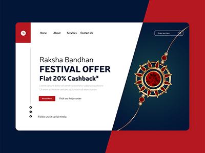 Raksha Bandhan festival offer landing page
