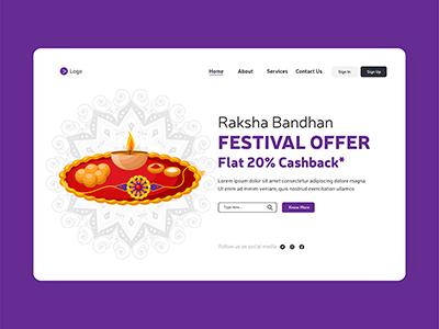 Raksha Bandhan festival offer landing page template