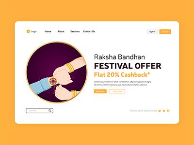 Raksha Bandhan festival offers landing page