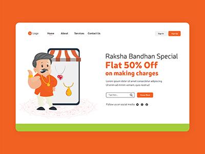Raksha Bandhan festival special offer landing page