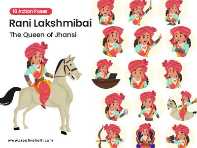 Rani Lakshmibai- The Queen of Jhansi Vector Bundle