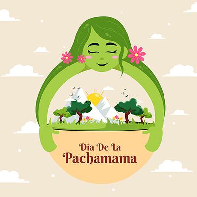 Template banner design for dia de la pachamama