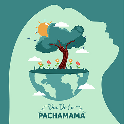 Template banner of dia de la pachamama