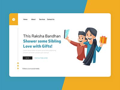 This raksha bandhan shower sibling love with gifts landing page