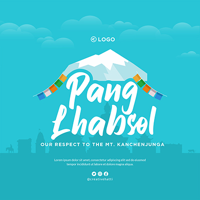 Banner of Pang Lhabsol festival template