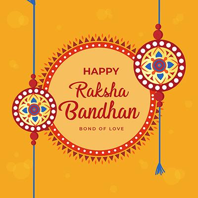 Banner of happy raksha bandhan bond of love