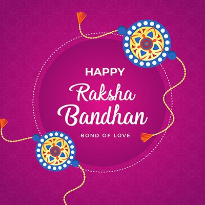 Banner of happy raksha bandhan bond of love template