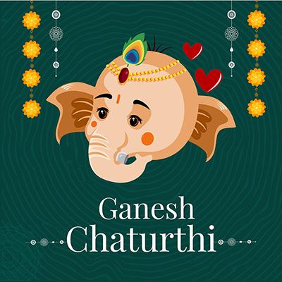 Banner template Ganesh Chaturthi celebration