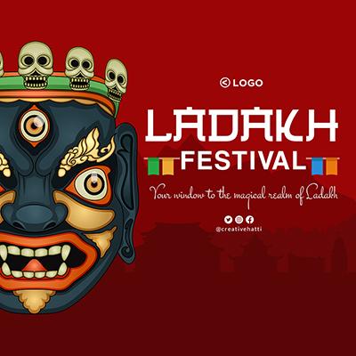 Banner template design of Ladakh festival