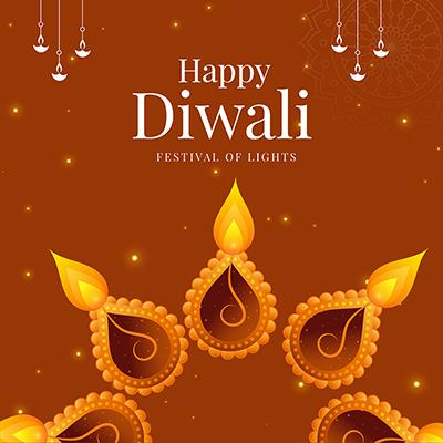 Banner template for happy Diwali festival celebration