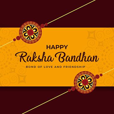 Banner template happy raksha bandhan bond of love