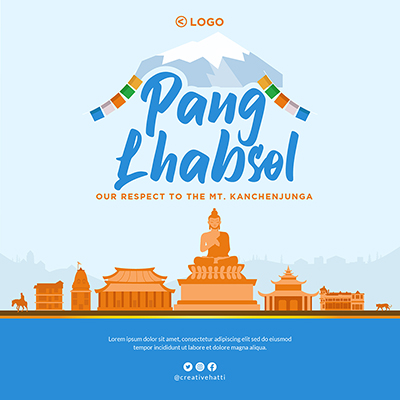 Banner template of Pang Lhabsol festival