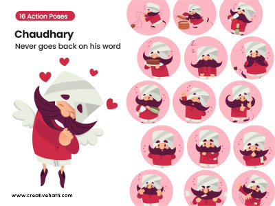 Chaudhary- Never Goes Back on His Word Vector Bundle