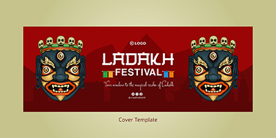 Cover page template of Ladakh festival