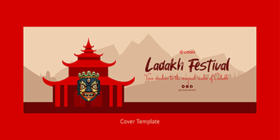 Coverpage template of Ladakh festival