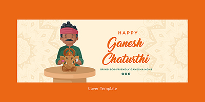 Coverpage template of happy ganesh chaturthi