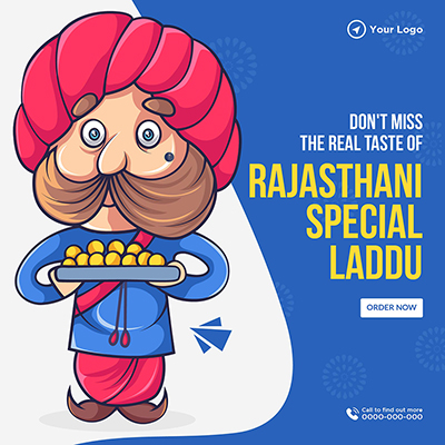 Don't miss the real taste of Rajasthani special laddu template