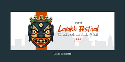 Facebook cover page template of Ladakh festival