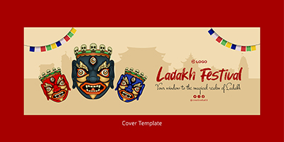 Facebook coverpage template of Ladakh festival