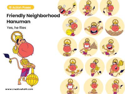 Friendly Neighborhood Hanuman- Yes, He Flies Vector Bundle