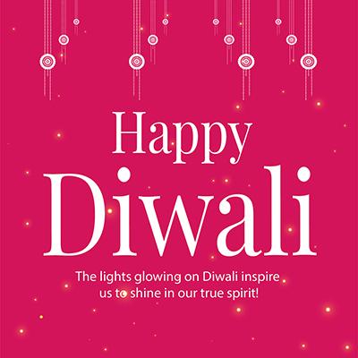 Happy Diwali celebrations festival template banner