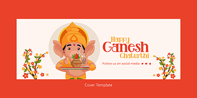 Happy ganesh chaturthi cover page design