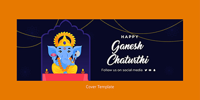 Happy ganesh chaturthi cover page template