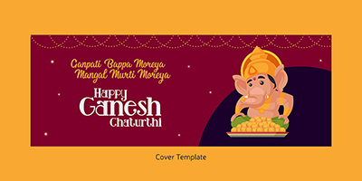 Happy ganesh chaturthi cover page template design