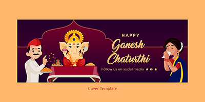 Happy ganesh chaturthi cover template