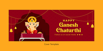 Happy ganesh chaturthi coverpage template