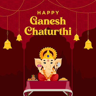 Happy ganesh chaturthi festival banner template 23 small