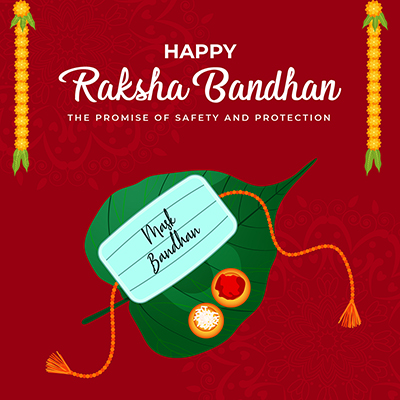 Happy raksha bandhan the promise of safety and protection design template