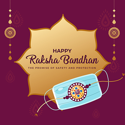 Happy raksha bandhan the promise of safety and protection template