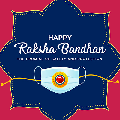 Happy raksha bandhan the promise of safety and protection template banner